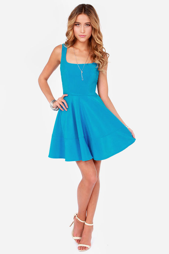 Home Before Daylight Bright Blue Dress at Lulus.com!