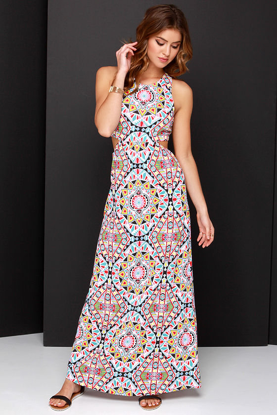 07e8122ca5d Billabong Hold On Me Dress - Print Dress - Maxi Dress -  59.95