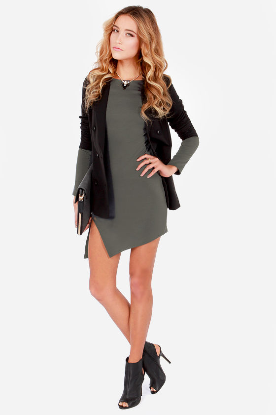 LULUS Exclusive All the Angles Grey Dress at Lulus.com!