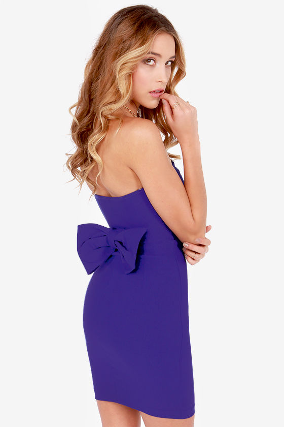 Anything Bows Strapless Royal Blue Dress at Lulus.com!