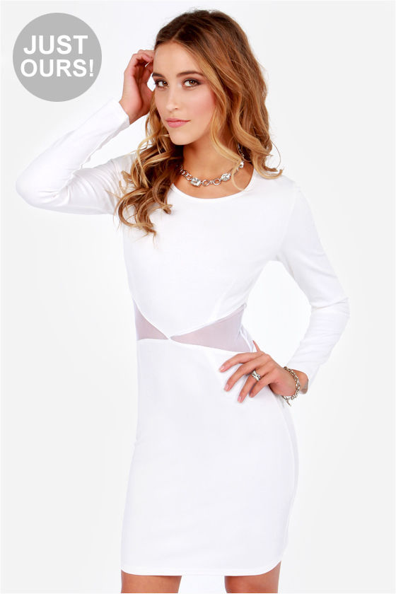 LULUS Exclusive Cute Be Told White Dress at Lulus.com!