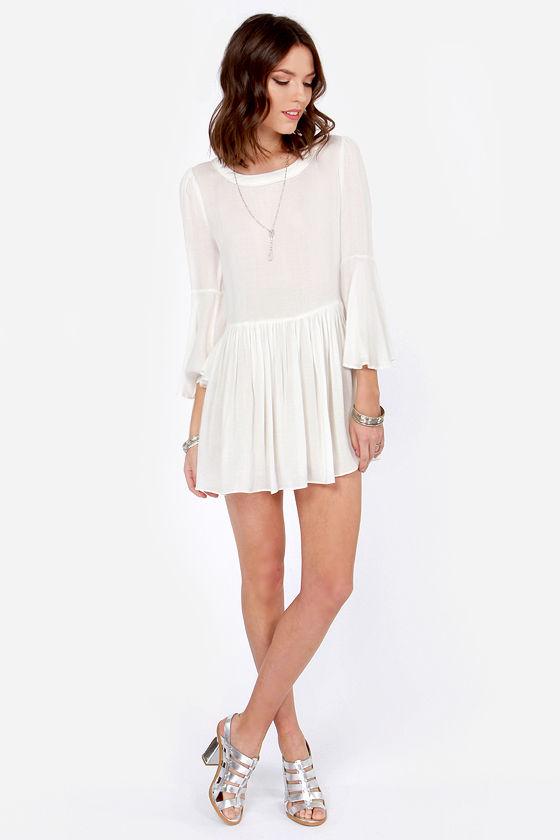 ab1a0bdfed9bf Cute Ivory Dress - Mini Dress - Babydoll Dress - $53.00