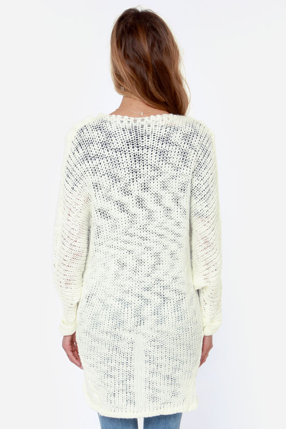 Knit for a Queen Cream Cardigan Sweater at Lulus.com!