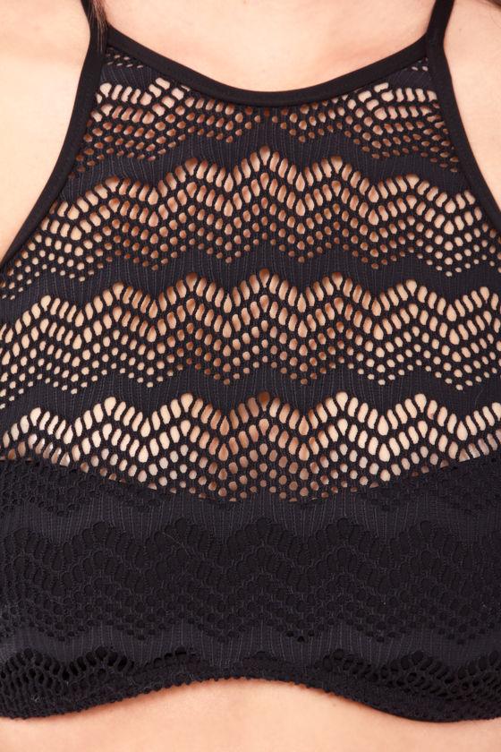 Volcom Beat Street Halter Black Bikini at Lulus.com!
