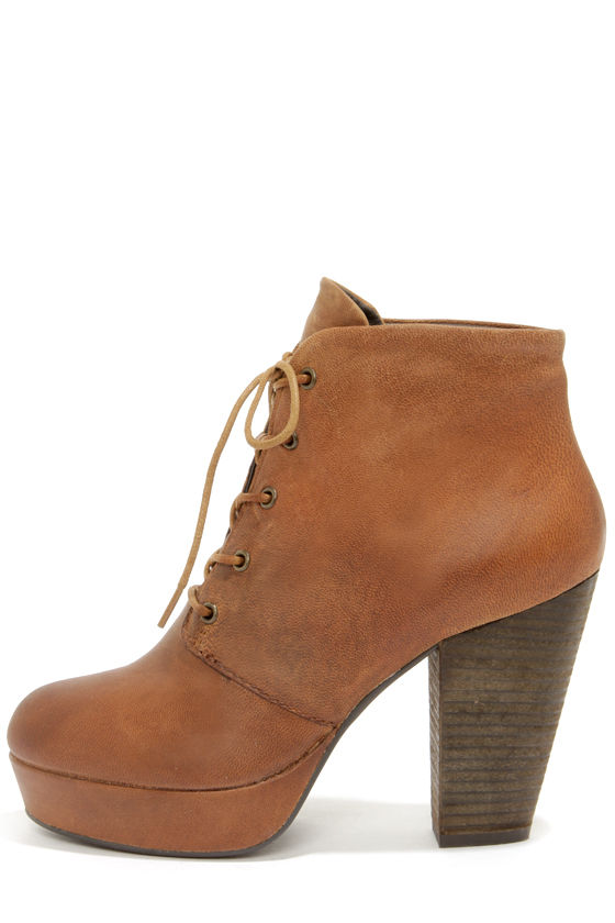 Steve Madden Raspy - Brown Boots - Leather Boots - Ankle Boots ...