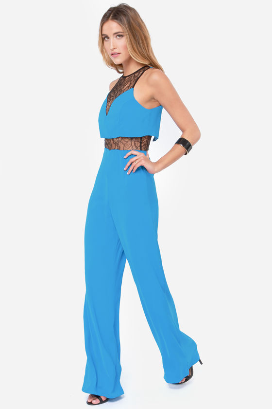 Secret Spice Bright Blue Jumpsuit at Lulus.com!