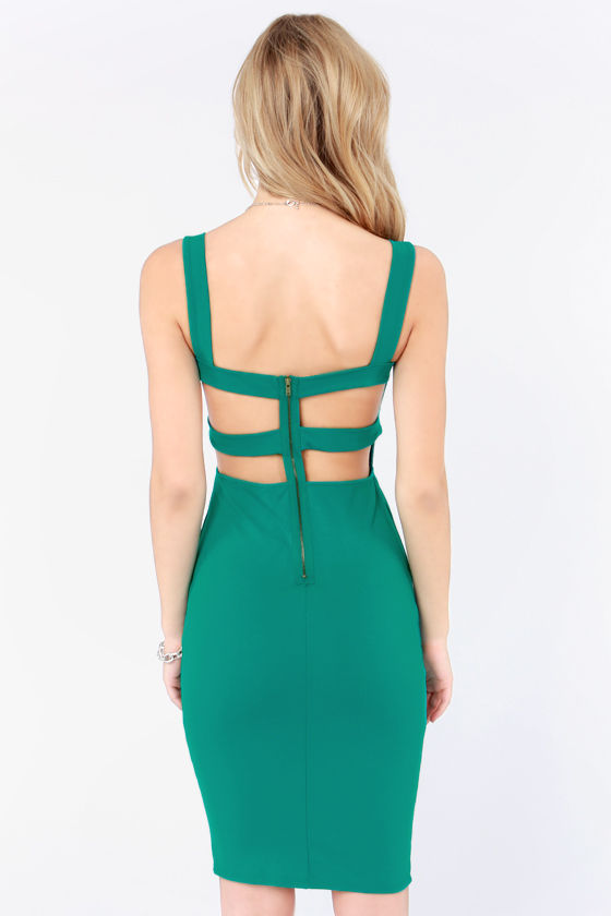 Set a Strap Bodycon Teal Dress at Lulus.com!