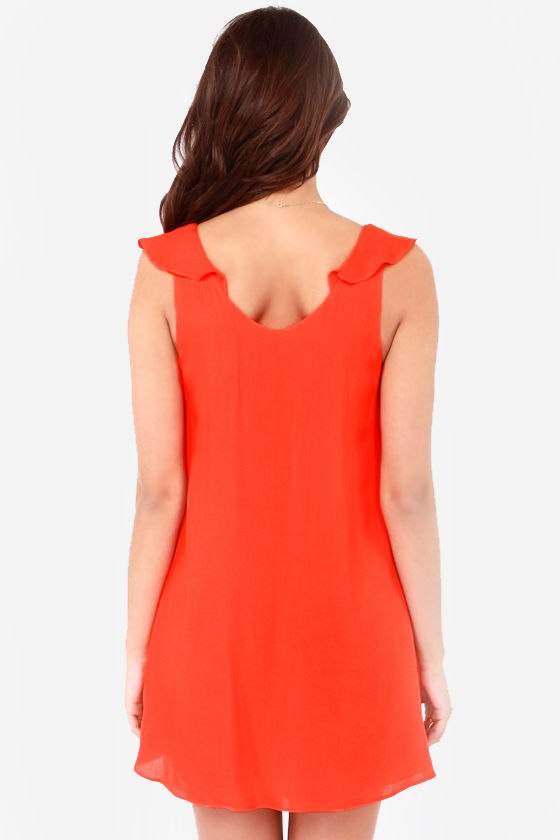 Huntingbird Into the Waves Orange Dress at Lulus.com!