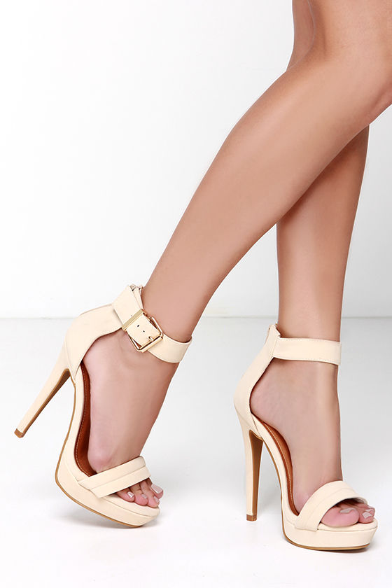 Nude pumps with ankle strap galleries 57