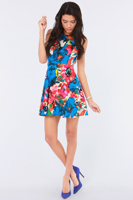 Once and Fleur All Floral Print Dress at Lulus.com!