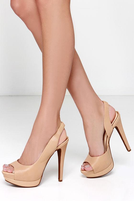e1d10fcfd356 Jessica Simpson Sabella Natural Leather Slingback Platform Heels