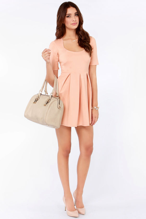 Mink Pink Heartbeat Blush Dress at Lulus.com!