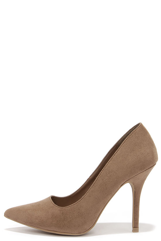 9e9d1dfc585 Wild Diva Lounge Lovisa 01 Taupe Suede Pointed Pumps