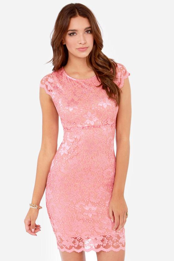 Rubber Ducky Dress - Pink Dress - Lace Dress - Backless Dress - $75.00