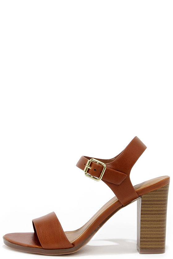 db2603de7222c Cute Tan Sandals - High Heel Sandals - Brown Sandals -  21.00