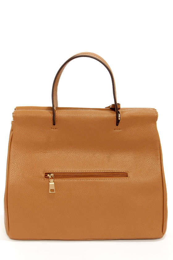Under Lock and Key Tan Purse at Lulus.com!
