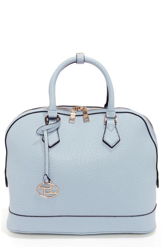 Cute Light Blue Purse Vegan Leather Purse Blue Handbag