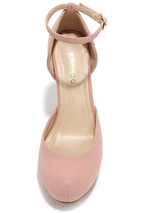 Pretty Pink Heels - Platform Heels - High Heels - $32.00