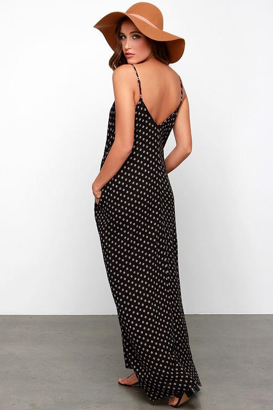 Yours Tule Black Floral Print Maxi Dress 3