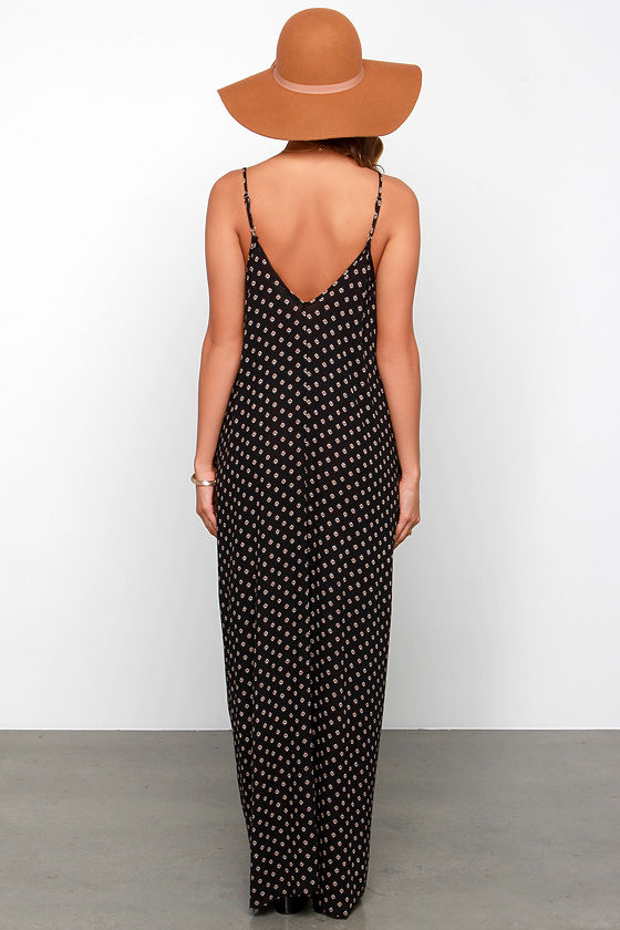 Yours Tule Black Floral Print Maxi Dress 4