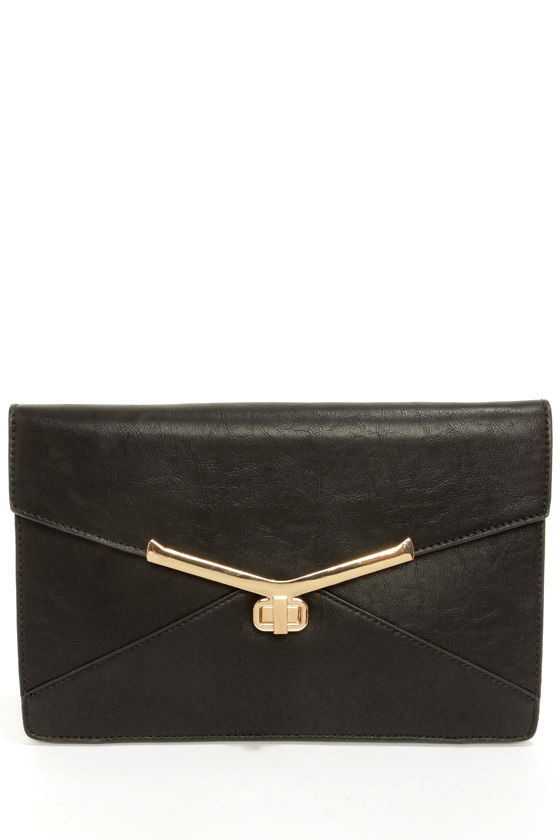 Go For It Black Clutch by Urban Expressions at Lulus.com!