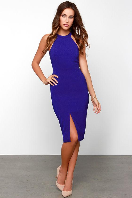 Keepsake End of Time - Royal Blue Dress - Midi Dress - $110.00