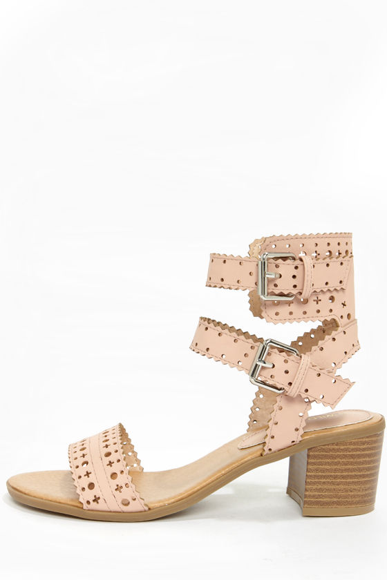 432d869ffdd Cute Nude Sandals - High Heel Sandals - Ankle Strap Sandals -  28.00