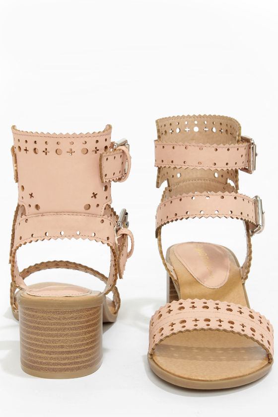 Wild Diva Lounge Danica 03 Nude High Heel Sandals at Lulus.com!