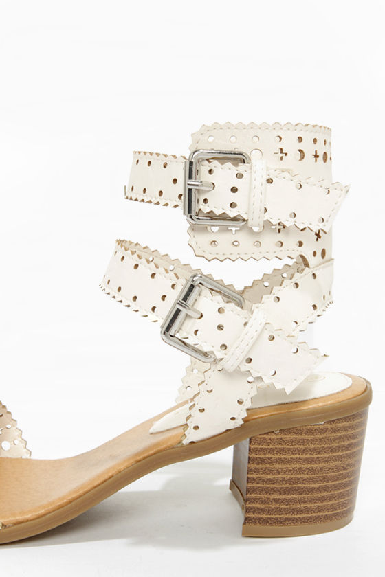 Wild Diva Lounge Danica 03 White High Heel Sandals at Lulus.com!
