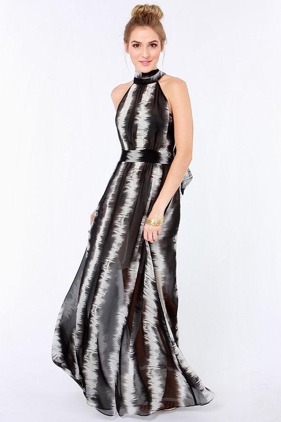 31b3b6f755 Cute Maxi Dress - Black Dress - Ivory Dress - Striped Dress - $67.00