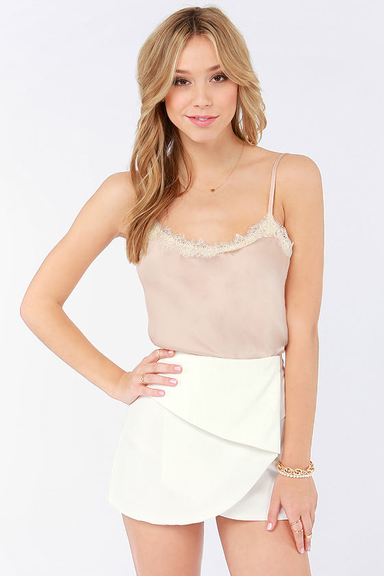Fold It Together Now Ivory Envelope Skirt at Lulus.com!