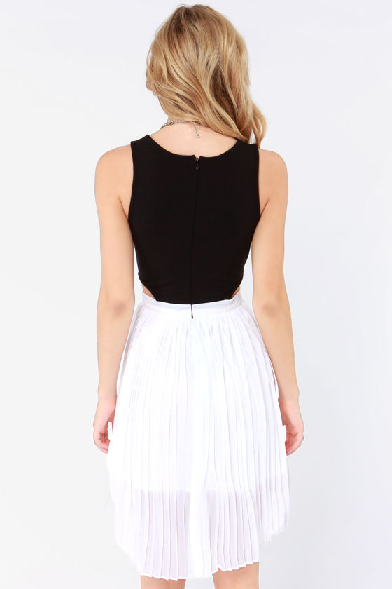 Jack by BB Dakota Jace Black and White Dress at Lulus.com!