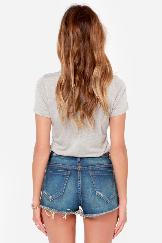 Blank NYC High-Rise Distressed Cutoff Jean Shorts at Lulus.com!