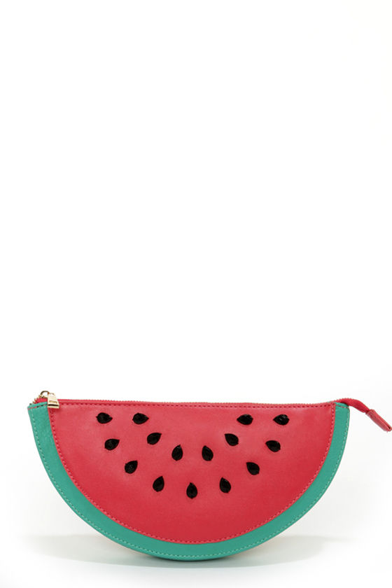 Down By The Bay Watermelon Clutch at Lulus.com!