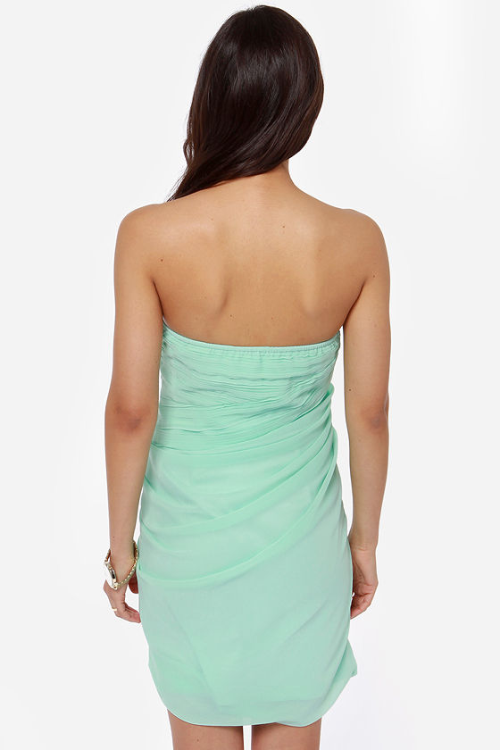 Midnight Masquerade Strapless Mint Green Dress at Lulus.com!