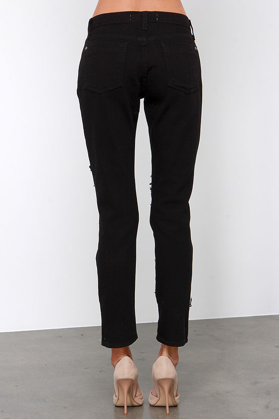 Cool Black Jeans - Skinny Jeans - Distressed Jeans - $64.00