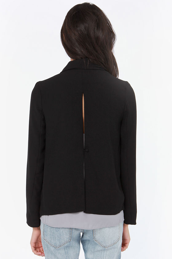 BB Dakota Arienette Black Blazer at Lulus.com!