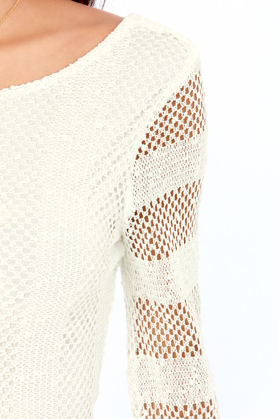 RVCA Arbuckle Ivory Lace Dress at Lulus.com!