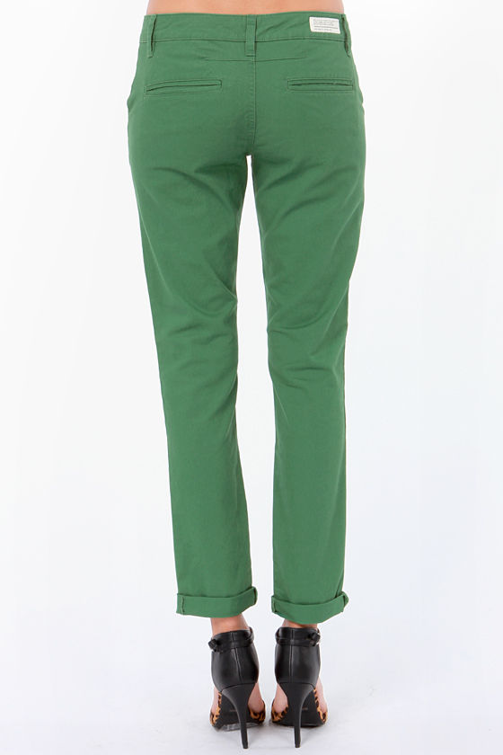 RVCA Sleeper Green Skinny Pants at Lulus.com!