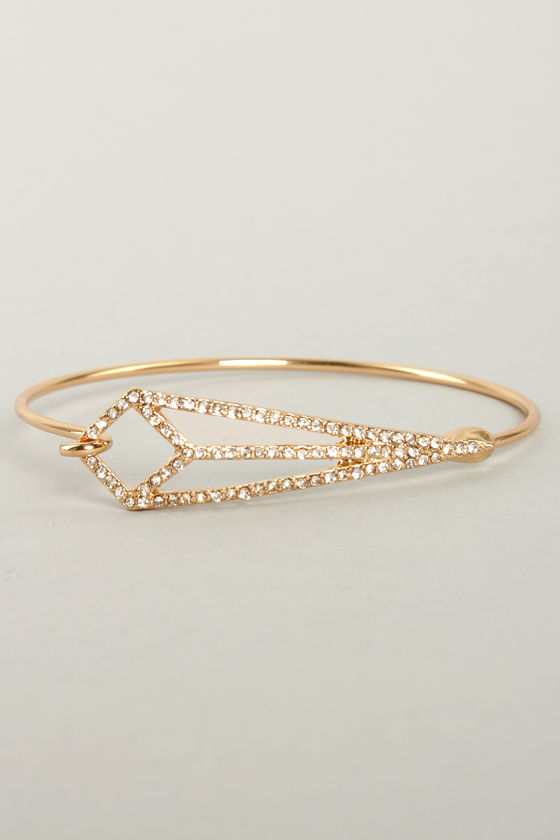 Grand Together Gold Rhinestone Bracelet at Lulus.com!