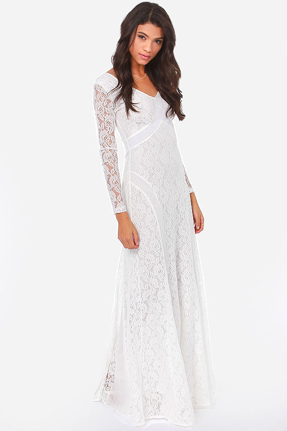 Beautiful Lace Dress - Ivory Dress - Maxi Dress - $75.00