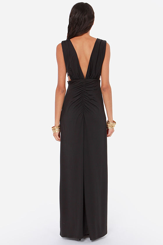 Breathless is More Cutout Black Dress at Lulus.com!