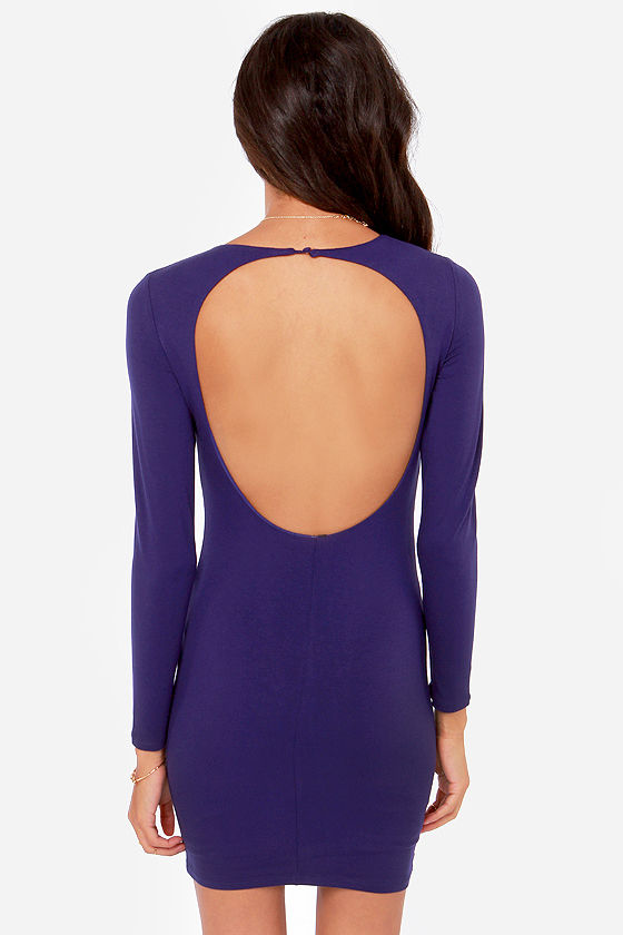 LULUS Exclusive Open Invitation Backless Blue Dress at Lulus.com!