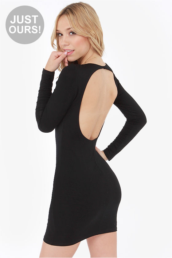 LULUS Exclusive Open Invitation Backless Black Dress at Lulus.com!