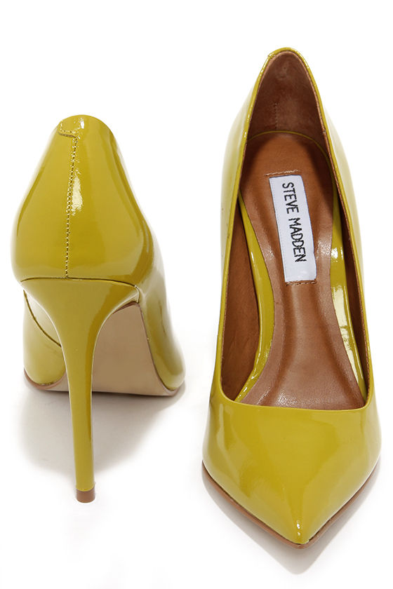 814577faa90 Cute Chartreuse Pumps - Pointed Pumps - Chartreuse Heels -  99.00