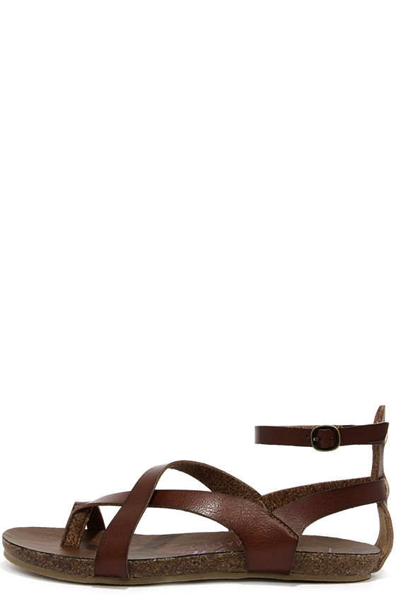 b9dcfa8041f9 Cute Brown Sandals - Gladiator Sandals - Strappy Sandals -  46.00