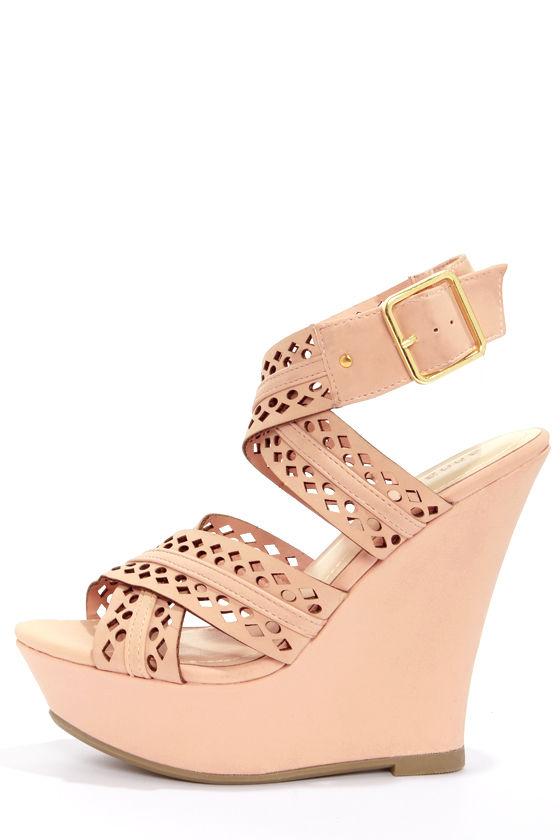 Wedges Shoes Sandals36 Blush Pink Wedge Cute 00 XwkuPiZTO