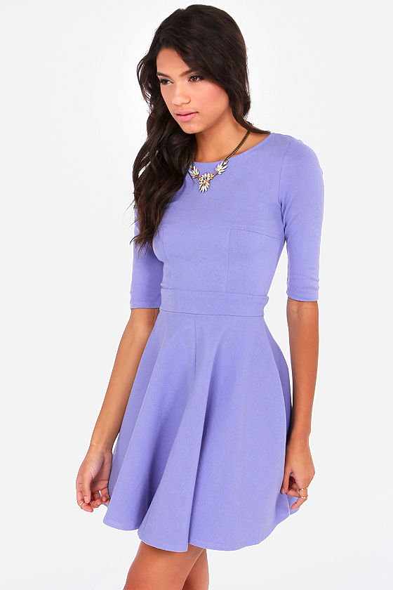 Just a Twirl Lavender Dress at Lulus.com!