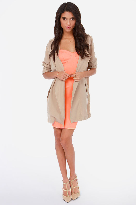 Sweetheart To Get Peach Dress at Lulus.com!