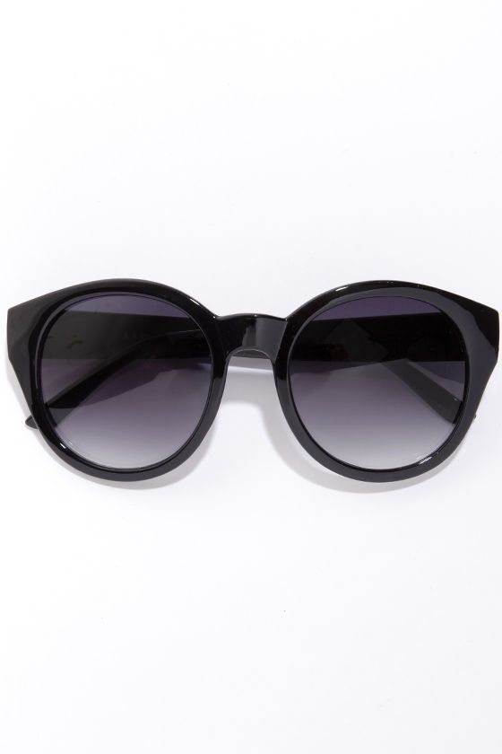 Marlo Black Sunglasses at Lulus.com!